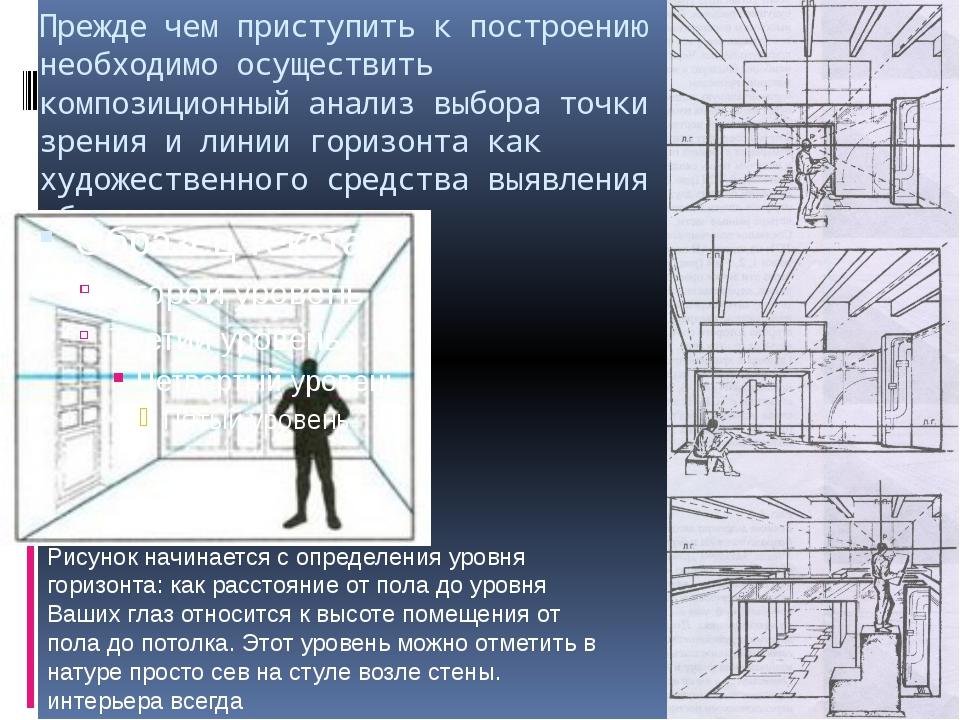 Прежде чем приступить к построению необходимо осуществить композиционный анал...