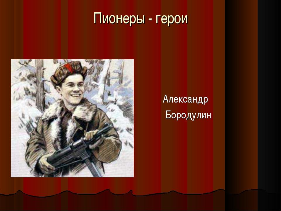 Пионеры - герои Александр Бородулин