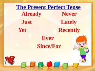 The Present Perfect Tense Already Never Just Lately Yet Recently Ever Since/For