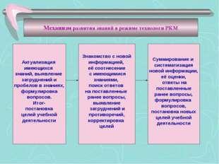 Актуализация имеющихся знаний, выявление затруднений и пробелов в знаниях, фо