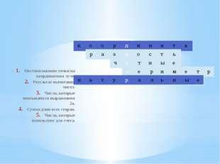 Местоположение точки на координатном луче. Результат вычитания чисел. Числа,
