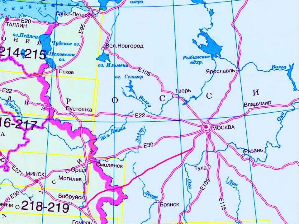 На карте россии где находиться селигер
