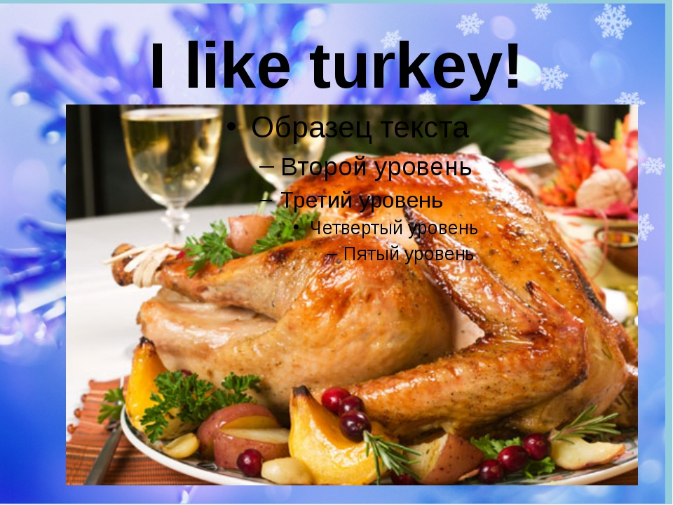 I like turkey!