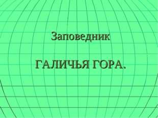 Заповедник ГАЛИЧЬЯ ГОРА.