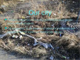 Our city Pollution in our city-is very big problem,because people leave rubbi