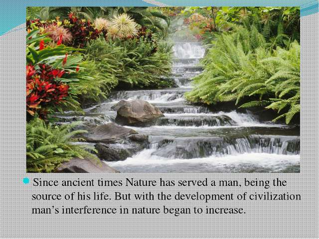 Since ancient times Nature has served a man, being the source of his life. B...