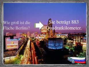 Sie beträgt 883 Quadratkilometer. Wie groß ist die Fläche Berlins?