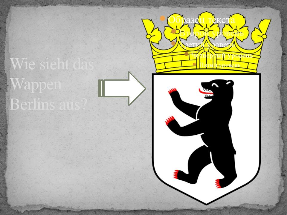 Wie sieht das Wappen Berlins aus?