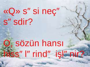 «Q» səsi neçə səsdir? O, sözün hansı hissələrində işlənir?