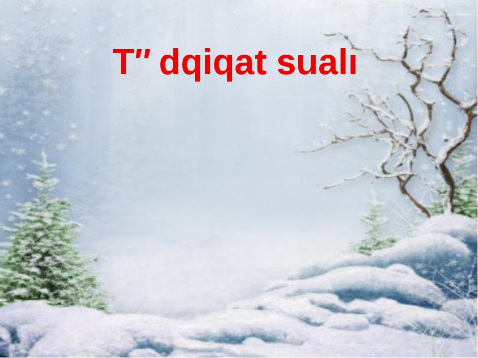 Tədqiqat sualı