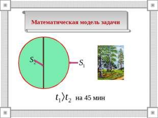 Математическая модель задачи на 45 мин