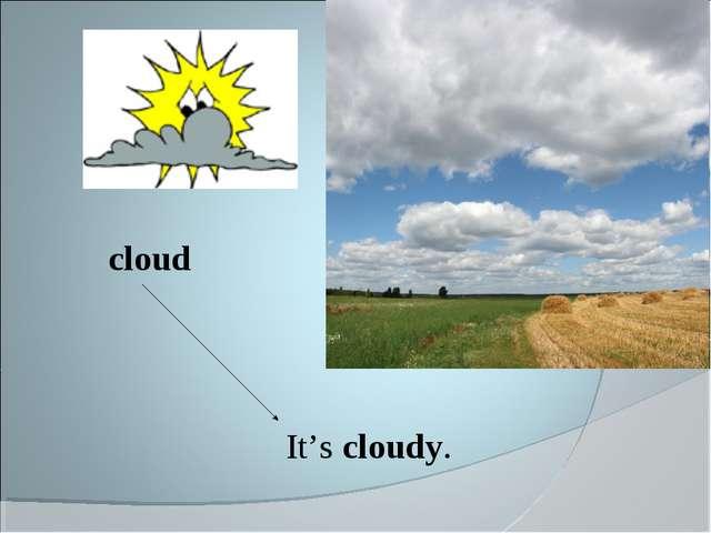 It's cloudy. cloud