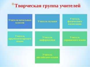 Творческая группа учителей