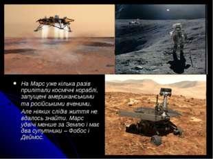 На Марс уже кілька разів прилітали космічні кораблі, запущені американськими