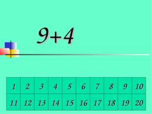 1 2 3 4 5 6 7 8 9 10 11 12 13 14 15 16 17 18 19 20 9+4