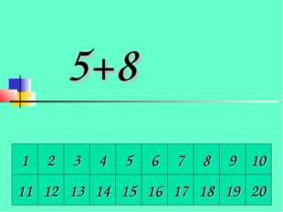 1 2 3 4 5 6 7 8 9 10 5+8 11 12 13 14 15 16 17 18 19 20