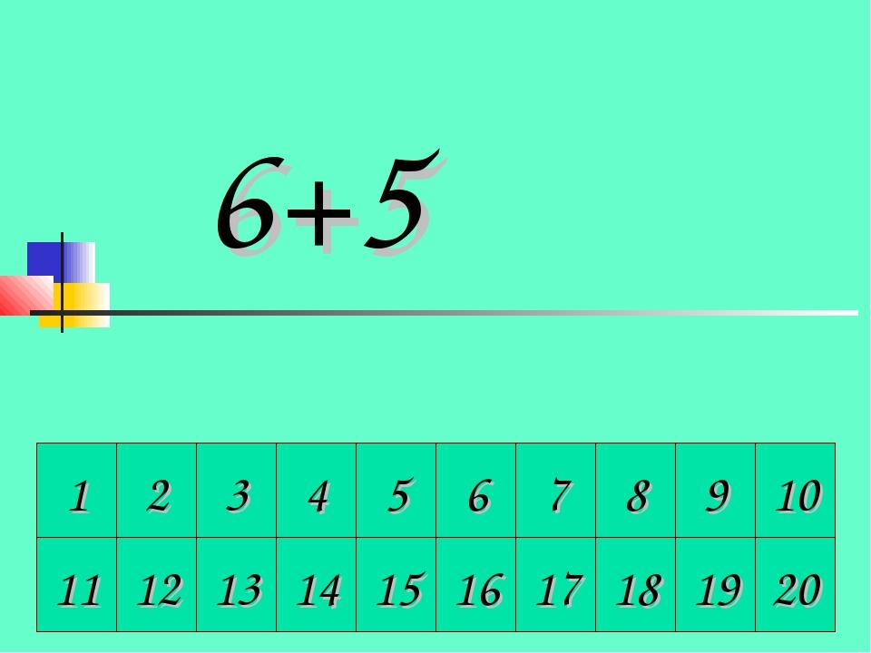 1 2 3 4 5 6 7 8 9 10 6+5 11 12 13 14 15 16 17 18 19 20