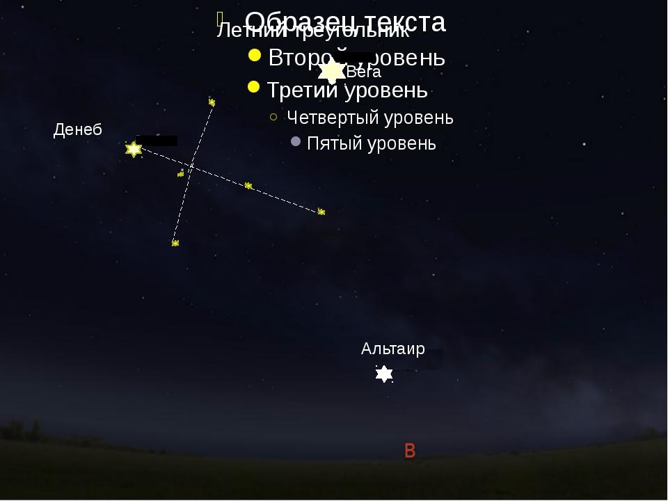 Летний треугольник Денеб Вега Альтаир