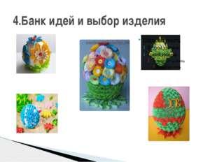 4.Банк идей и выбор изделия