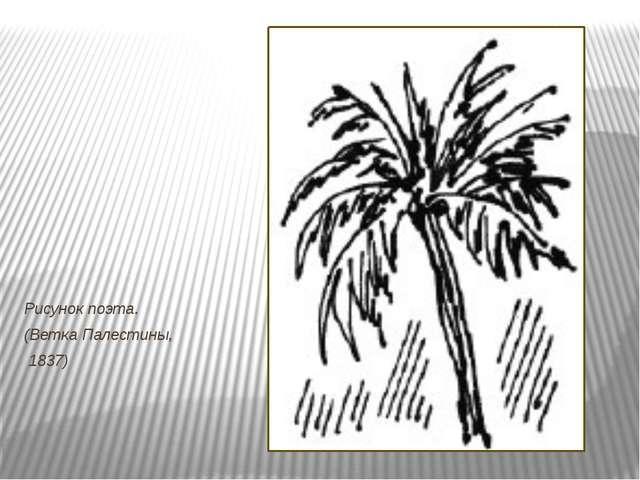Рисунок поэта. (Ветка Палестины,  1837)