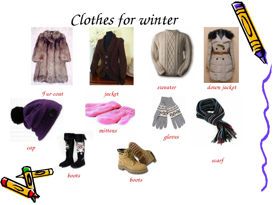 Clothes for winter mittens jacket sweater cap scarf Fur-coat down jacket glov...