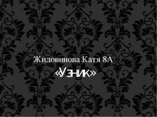 Жидовинова Катя 8А «Узник»