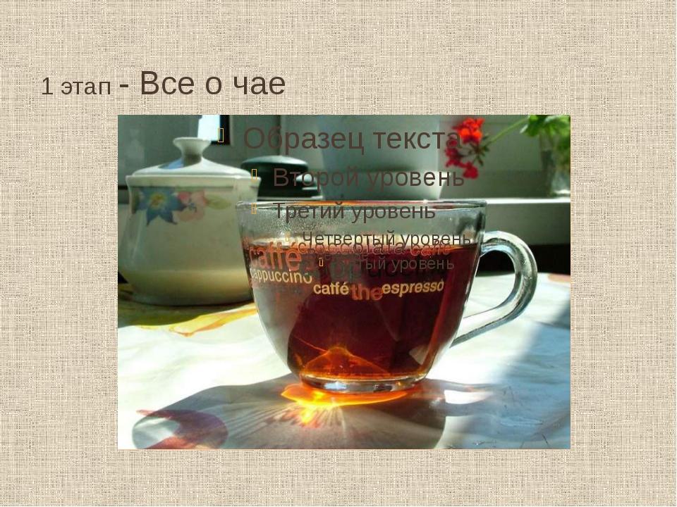1 этап - Все о чае Все о чае