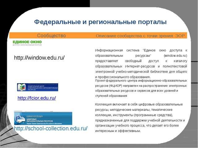Федеральное хранилище Единой коллекции цифровых образовательных ресурсов