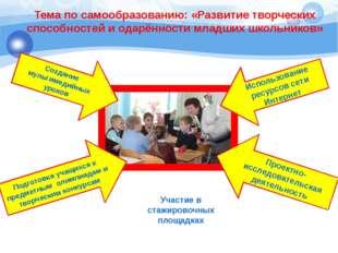 Тема по самообразованию: «Развитие творческих способностей и одарённости млад