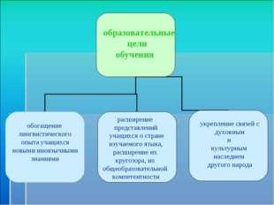 образовательные цели обучения обогащение лингвистического опыта учащихся нов