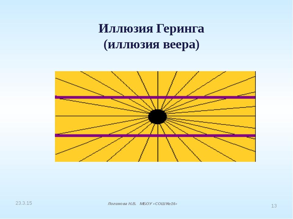 Иллюзия Геринга (иллюзия веера) Логинова Н.В. МБОУ «СОШ №16»