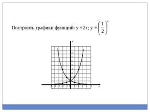 Построить графики функций: у =2х; у =