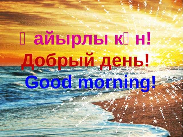 Қайырлы күн! Добрый день! Good morning!