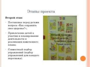 Этапы проекта Второй этап: Постановка перед детьми вопроса «Как сохранить сво