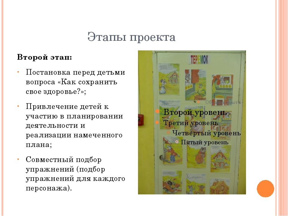 Этапы проекта Второй этап: Постановка перед детьми вопроса «Как сохранить сво...