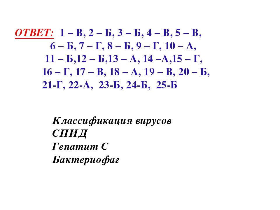 ОТВЕТ: 1 – В, 2 – Б, 3 – Б, 4 – В, 5 – В, 6 – Б, 7 – Г, 8 – Б, 9 – Г, 10 – А...