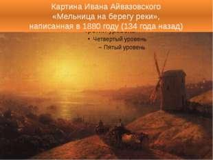 Картина Ивана Айвазовского «Мельница на берегу реки», написанная в 1880 году