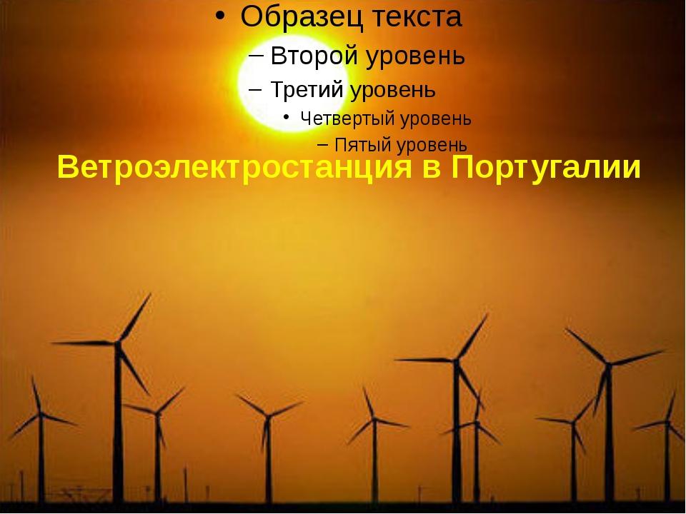Ветроэлектростанция в Португалии