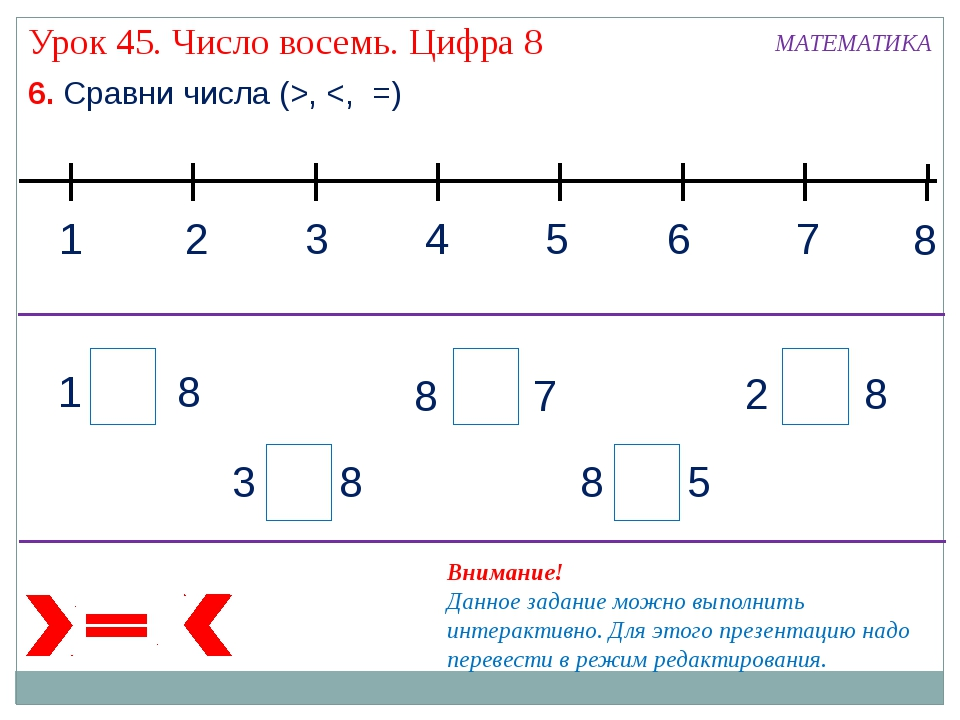 6. Сравни числа (>,
