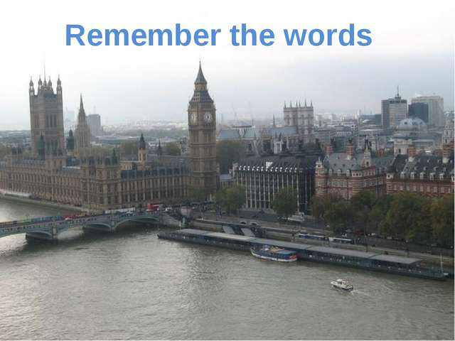 Remember the words