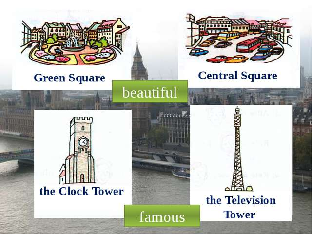 Green Square Central Square the Clock Tower the Television Tower beautiful fa...