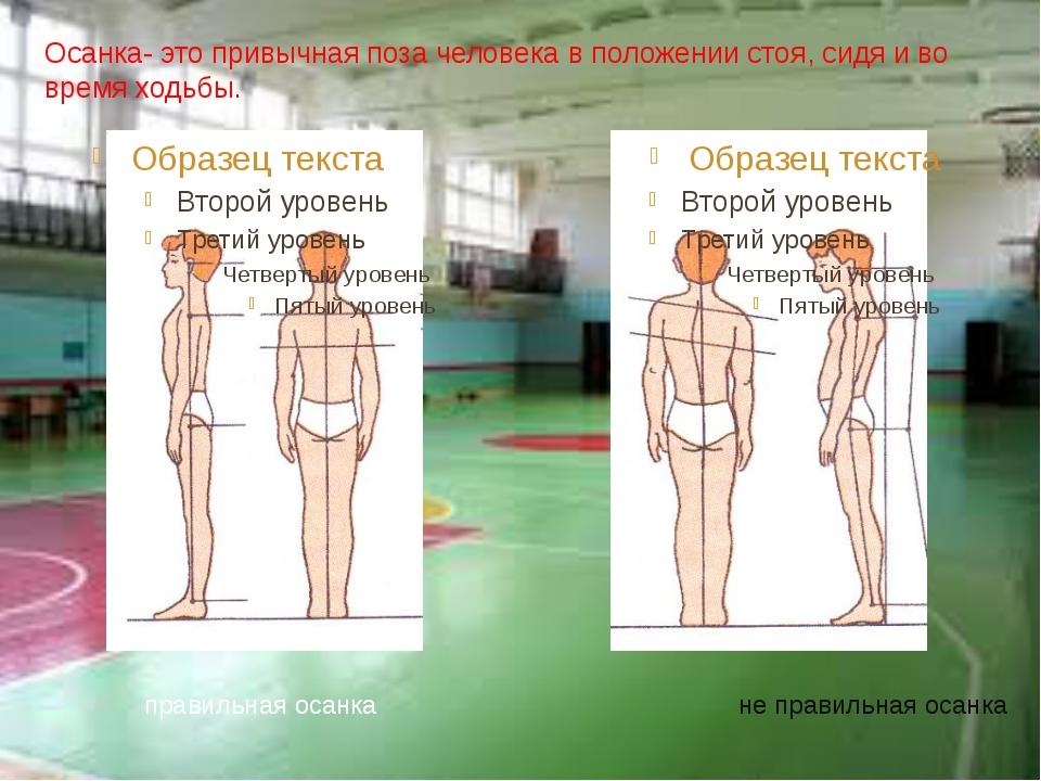 Осанка- это привычная поза человека в положении стоя, сидя и во время ходьбы....