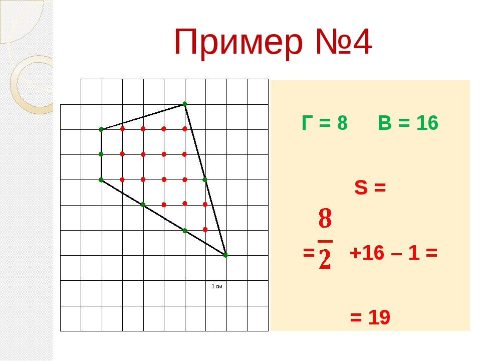 Пример №4 Г = 8 В = 16 S = = +16 – 1 = = 19