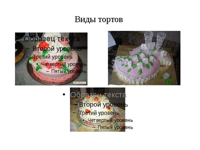 Виды тортов