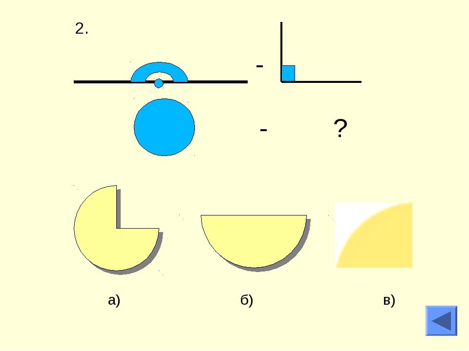 - - ? а) б) в)