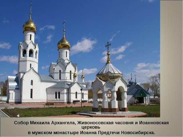 Собор Михаила Архангела, Живоносовская часовня и Иоанновская церковь в мужско...