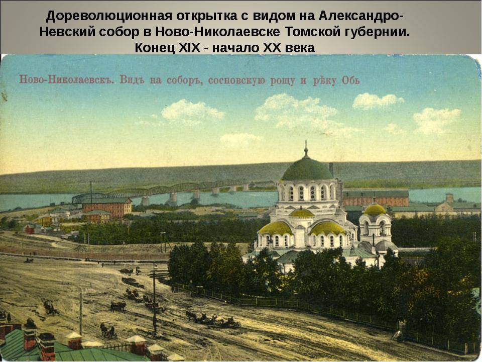 Дореволюционная открытка с видом на Александро-Невский собор в Ново-Николаевс...