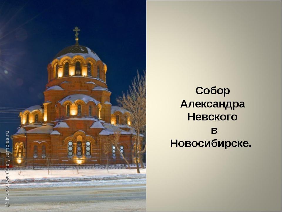 Собор Александра Невского в Новосибирске.