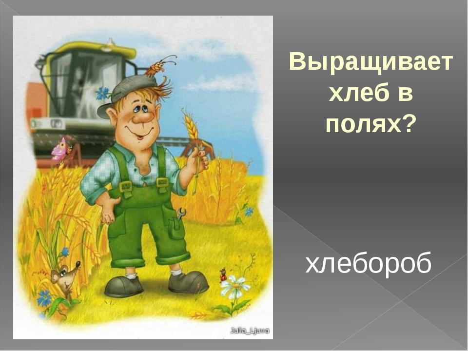 Выращивает хлеб в полях? хлебороб