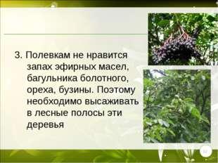 * 3. Полевкам не нравится запах эфирных масел, багульника болотного, ореха, б